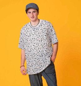 【新着商品!】 大きいサイズ メンズ 総柄プリント半袖Tシャツ クレヨンしんちゃん (ピンク) (3L 4L 5L 6L 8L) 【あす楽対応】