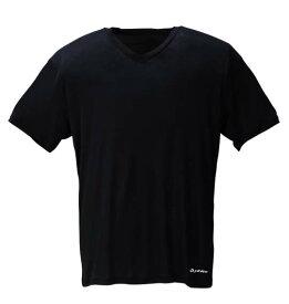大きいサイズ メンズ 半袖VネックTシャツ Phiten (ブラック) (3L 4L 5L 6L 8L) 【あす楽対応】