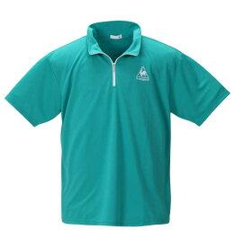 大きいサイズ メンズ エアロドライニットハーフジップシャツ LE COQ SPORTIF (スウィンググリーン) (3L 4L 5L 6L)