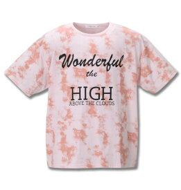 【新着商品!】 大きいサイズ メンズ 総柄プリント半袖Tシャツ launching pad (ピンク) (3L 4L 5L 6L) 【あす楽対応】