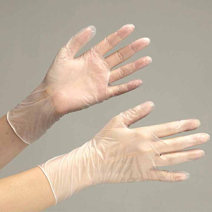 【楽天ランキング1位】 使い捨てPVC手袋 【100枚入】 使い捨てPVC手袋 ベルテプラテ851 (粉なし/100枚) ディスポ手袋 グローブ 作業手袋 作業用手袋 [S M L LL]