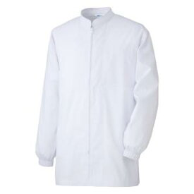 白衣 男女共用 ミドリ安全 診察用白衣 薬局衣 長袖コート MHS327 上 ホワイト 仕事着