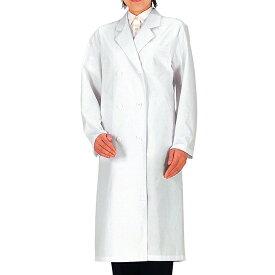 レディース 診察用白衣 薬局衣 ミドリ安全 【抗菌/帯電防止】 レディース 女診察衣 診察用白衣(ダブルボタン) SKA125 ダブル ホワイト 仕事着