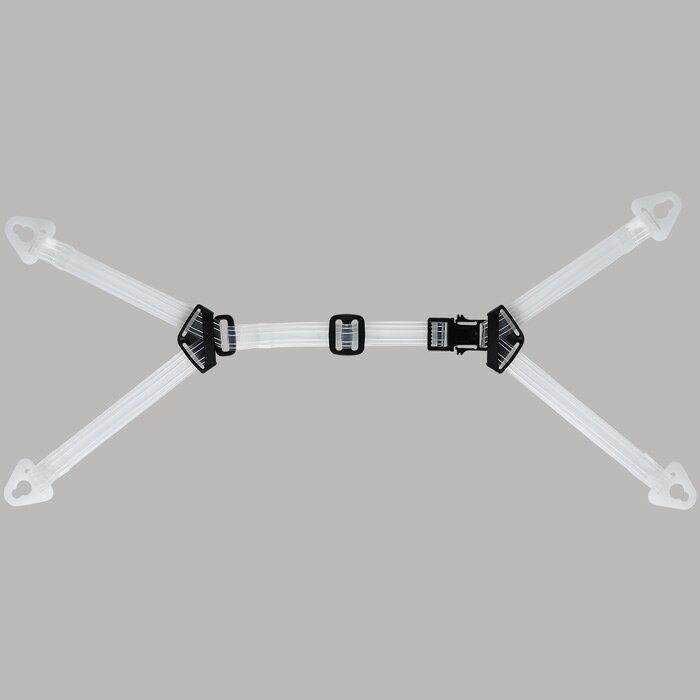 【交換用】 ヘルメット備品 ミドリ安全 [汗を吸わないビニール製] 透明耳アゴ紐