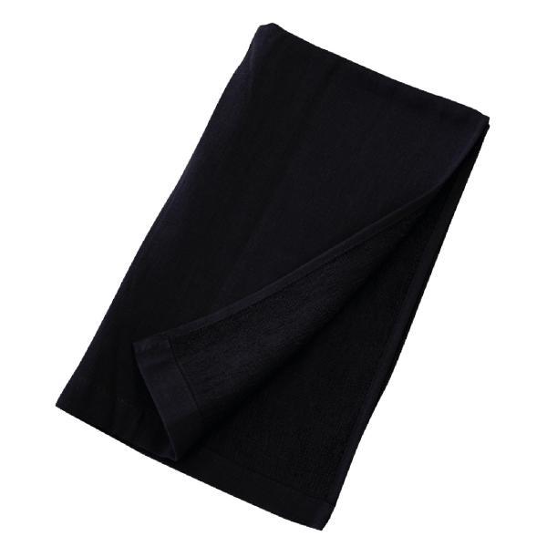 熱中対策 布施商店[COVER WORK] 綿ガーゼロングタオル 36×110cm ブラック [暑さ対策 夏用 冷感 冷却]【ランキングにランクイン】