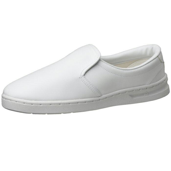 静電作業靴 スリッポン ミドリ安全 男女兼用 メンズ対応可 エレパス 《IEC規格準拠:クリーンエリア用》M101 [静電靴 静電気防止 静電気除去 帯電防止] ホワイト【ランキングにランクイン】