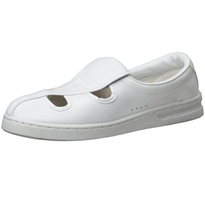 【大サイズ】静電作業靴 ミドリ安全 男女兼用 メンズ対応可 エレパス 《IEC規格準拠:クリーンエリア用》M102 [静電靴 静電気防止 静電気除去 帯電防止] ホワイト