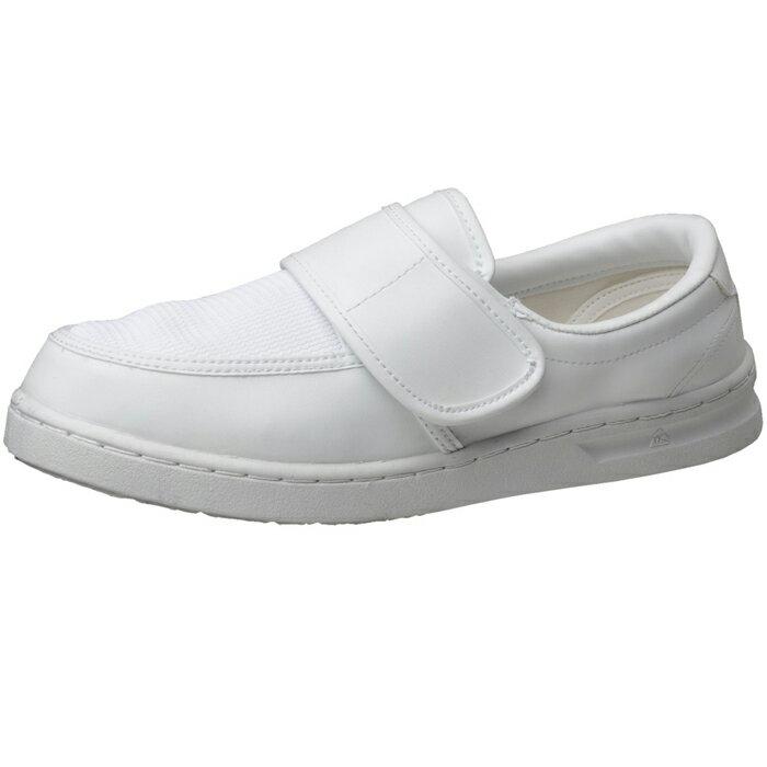 【大サイズ】静電作業靴 ミドリ安全 男女兼用 メンズ対応可 エレパス 《IEC規格準拠:クリーンエリア用》《メッシュ仕様》 M103 [静電靴 静電気防止 静電気除去 帯電防止] ホワイト