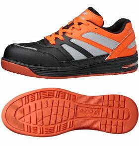 【新作最新】高視認安全作業靴【送料無料】ミドリ安全先芯入りスニーカーワークプラスWPA−RF01[イエロー/オレンジ]