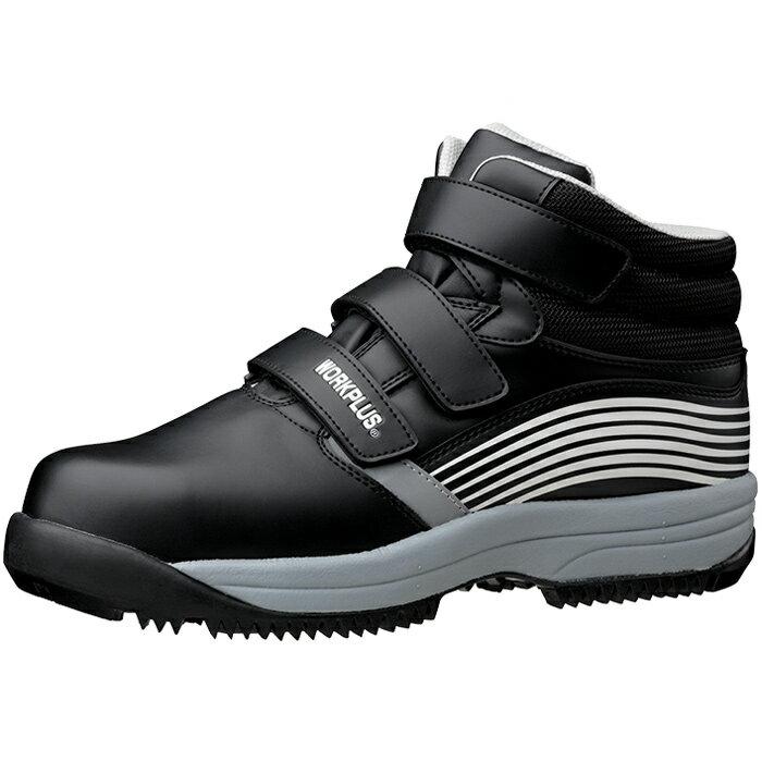 寒冷地用先芯入りスニーカー メンズ レディース 安全作業靴 ミドリ安全 【簡易防水安全靴/雪がつまりにくく、滑りにくい/雪上用ソール】 (スノーシューズ・スノーブーツ・冬靴・雪靴・ウィンターブーツ)スノースニーカー [ワークプラス] MPS−155 ブラック