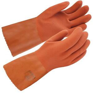 東和コーポレーション グローブ 作業手袋 作業用手袋 No.653 ソフトビニスター(R) 防寒用 (10双セット) すべり止め加工 裏起毛 セミロングタイプ M/L/LL