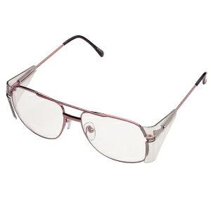 ミドリ安全 [ルネベル] 保護メガネ MM-80A MCRH ブラウン メタルフレーム 軽量 めがね 超硬度表面加工
