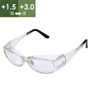リーディンググラス MD-208(M) バイフォーカル +1.5〜+3.0 クリア 老眼鏡