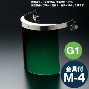 ミドリ安全 ヘルメット取付型防災面 MB-121HG 1° M-4金具付