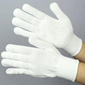 グローブ 作業手袋 作業用手袋 [布施商店] 《綿100%》 やわらか軍手 COVER WORK (スベリ止め付) 白 FT-3104 【6双】 S〜L