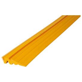段差スロープ敷鉄板用 [ユニット] 386-87 黄色 車 バイク 転倒防止 [高さ30×幅155×長さ1500mm]