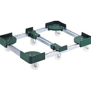 トラスコ中山 TRUSCO 物流保管用品 運搬台車 コンテナ台車 伸縮式コンテナ台車6輪型500x800 FCD65080