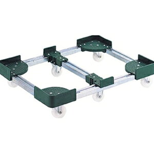 トラスコ中山 TRUSCO 物流保管用品 運搬台車 コンテナ台車 伸縮式コンテナ台車6輪型600x1000 FCD660100