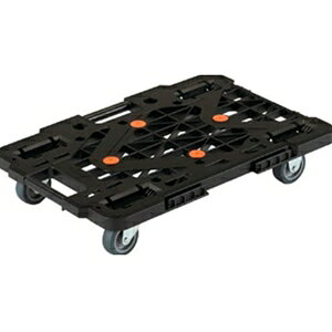 トラスコ中山 TRUSCO 物流保管用品 運搬台車 オフィス用運搬車 樹脂製平台車ルートバン4輪自在615x415黒メッシュタイプ MPK600JBK