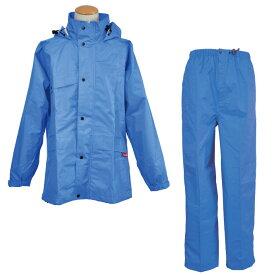 レインウェア [コヤナギ] 防水・透湿性+耐久撥水性 《エントラントG》 カッパ 合羽 雨衣 ニューグランドスラムレイン ♯8200 ブルー [梅雨 ゴルフ 自転車 おすすめ 上下組] 作業用 上下セット