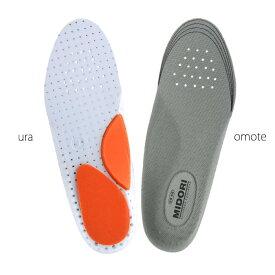 ミドリ安全 インソール 中敷 靴備品 かかと衝撃吸収インソール E-01 アーチクッション 抗菌防臭 EVA[蒸れない・通気性が良い・涼しい・快適]