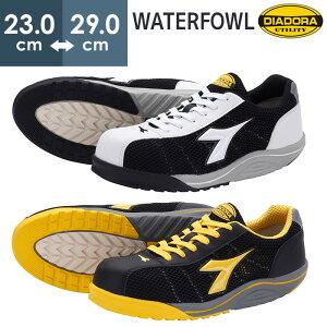 ディアドラ安全靴 DIADORA ウォーターフォール WATERFOWL WF-112 WF-252 JSAA認定 通気性 ドライメッシュ 片足10本の反射テープ 先芯 安全作業靴 プロテクティブスニーカー プロスニーカー [ホワイト/