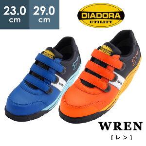 ディアドラ安全靴 DIADORA レン WREN WR-412 WR-712 JSAA認定 R&Wソール 反射 夜間作業 耐油性 先芯 安全作業靴 プロテクティブスニーカー プロスニーカー [ブルー/ホワイト/ブラック,オレンジ/ホワイ
