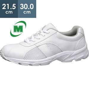 ナースシューズ ケアセフティ CSS-110 ホワイト ひもタイプ ミドリ安全 ナースシューズ 疲れにくい メンズ レディース 超軽量 スニーカー衝撃吸収クッション [看護師/介護士 靴/ケアワーカ