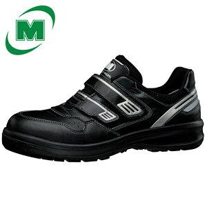 【大きいサイズ】安全作業靴 プロテクティブスニーカー プロスニーカー 先芯 JSAA認定 メッシュ ミドリ安全 安全靴 ワイド樹脂先芯 メッシュ スニーカー マジックタイプ ベルクロ G3695 ブラ