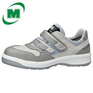 安全作業靴 プロテクティブスニーカー プロスニーカー 先芯 JSAA認定 メッシュ ミドリ安全 安全靴 ワイド樹脂先芯 メッシュ スニーカー マジックタイプ ベルクロ G3695 グレイ 小 [作業靴:蒸れ