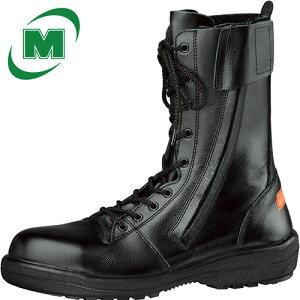 【小サイズ レディース】 静電安全靴 ブーツ ミドリ安全 災害活動靴 【消防仕様 踏み抜き防止】 《踏抜防止板/耐滑・耐熱底》 長編上[ラバーテック] RT731F消防静電P‐4 [静電靴 静電安全靴 静