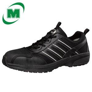 安全作業靴 プロテクティブスニーカー プロスニーカー 先芯 JSAA認定 ミドリ安全 超軽量 ワークプラス・スーパーライト SL601CAP ブラック 黒[作業靴:蒸れない・通気性が良い・涼しい・快適]