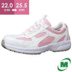 レディース 安全作業靴 ミドリ安全 女性用 超軽量 ワークプラス・スーパーライト SL602 ピンク[作業靴:蒸れない・通気性が良い・涼しい・快適]