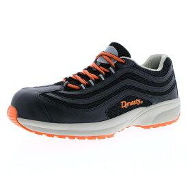 ドンケル DONKEL ダイナスティライト DL27 DYNASTY JSAA認定 軽量 通気 メッシュ ひも ドライビングヒール 先芯 安全作業靴 プロテクティブスニーカー プロスニーカー メッシュ [ブラック/オレンジ] 22.0-30.0cm