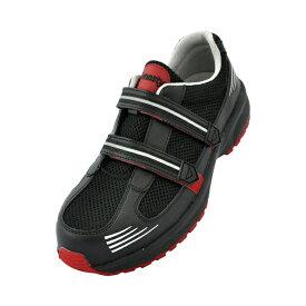 ドンケル DONKEL ダイナスティライト DL23M DYNASTY JSAA認定 ハイテク樹脂先芯 軽量 通気 安全作業靴 プロテクティブスニーカー プロスニーカー メッシュ メッシュマジック安全作業靴 [作業靴:蒸れない・通気性が良い・涼しい・快適] [ブラック/レッド]22.0-30.0cm
