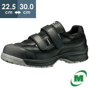 安全作業靴 ミドリ安全 男女兼用 トウキャップ付き先芯入りスニーカー ワークプラス MPN905 ブラック