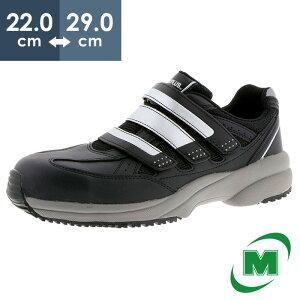 ミドリ安全 ワークプラス 超軽量 MJK-705 先芯 JSAA認定 メッシュ メンズ レディース 安全作業靴 プロテクティブスニーカー プロスニーカー マジックタイプ ベルクロ [ブラック] 22.0cm〜28.0cm・29.