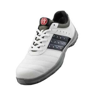 ドンケル DONKEL ダイナスティキラメキ DK12 DYNASTY 煌 キラメキ JSAA認定 A種 先芯 撥水 耐油性 足元キラキラ ひも 安全作業靴 プロテクティブスニーカー プロスニーカー [ホワイト&ブラック] 24.5-2