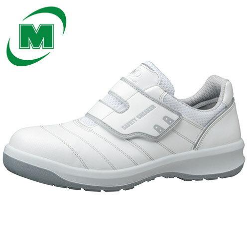【小サイズ レディース】 安全作業靴 スニーカー ミドリ安全 ワイド樹脂先芯 マジックタイプ G3595 ホワイト 22.0〜23.0(EEE)