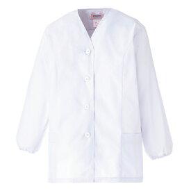 白衣 ミドリ安全 女子衿なし 長袖 EB450 調理衣 食品工場 衛生 作業着 制服 レディース 女性用 仕事着