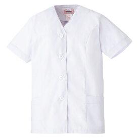 白衣 ミドリ安全 女子衿なし 半袖 EB451 調理衣 食品工場 衛生 作業着 制服 レディース 女性用 仕事着