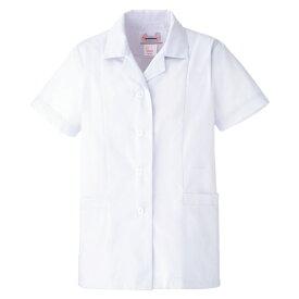 白衣 ミドリ安全 女子衿付 半袖 EB431 調理衣 食品工場 衛生 作業着 制服 レディース 女性用 仕事着