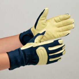 消防用手袋 MK-FM-2 耐切創性手袋 ニットとノーメックスニットの二重編 ケブラー(R) グローブ 作業手袋 紺