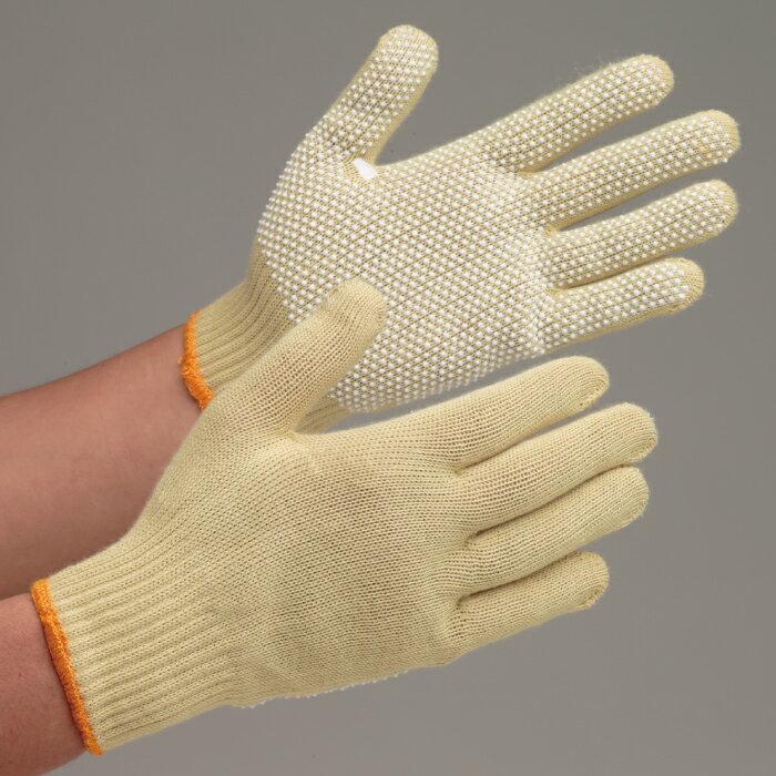 【楽天ランキング1位】 ミドリ安全 耐切創性手袋 イエローガード102V EN388カットレベル3 耐熱性 難燃性 すべり止め付き グローブ 作業手袋 10双/袋
