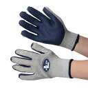 抗菌・防臭加工 ゴム張り手袋 [布施商店] 【抗菌・防臭加工】 ジャストフィット NO.410 ネイビー グローブ 作業手袋 …