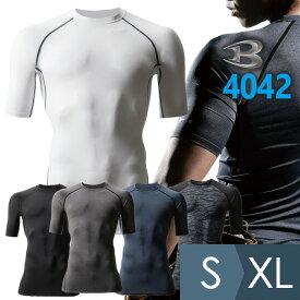 バートル BURTLE 半袖クールフィッテッド 4042シリーズ メンズ 男性用 吸汗速乾 ストレッチ S/M/L/XL 全5色 仕事着