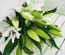 【送料無料】長く楽しめる 大輪百合の花束 15輪以上(本数3〜6本)【百合】「百合の花束」【ユリ】「ゆりの花束」【お…