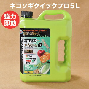 素早く雑草を枯らす除草剤 レインボー薬品 ネコソギクイックプロFL 液体 5リットル 12,500m2まで 送料無料