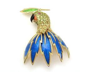 【緑屋質屋】ティファニー ハイジュエリー パロットバストブローチ (Parrot Bust) ジーンシュランバーゼ 参考定価388万円【中古】
