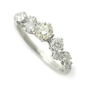 【緑屋質屋】田崎(タサキ・TASAKI) ダイヤモンド リング 0.27ct 0.36ct K18WG【中古】
